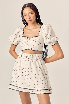 Костюм FOR LOVE & LEMONS Eden Mini B&W Heart